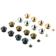 5pcs Cone Rivets Spikes Studs Metal Punk Rock For DIY Leathe