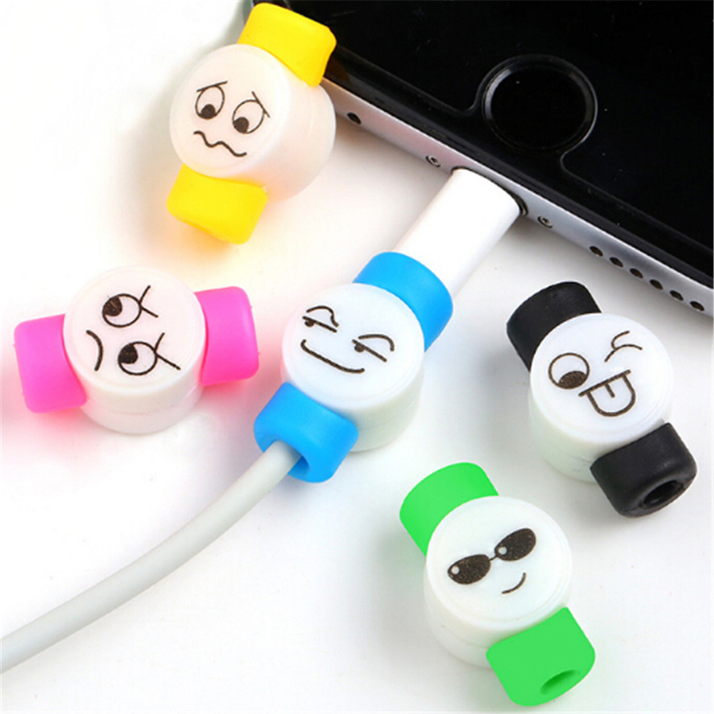 Accessories & Parts Smart Free Ship 6pcs Funny Smiling Expression Charging Data Line Data Cable Protection Sets Earphone Data Line Protector For Iphone Without Return