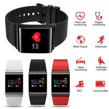 X9 Pro Smart пульсометр крови Давление монитор красочные OLED Дисплей Спортивный Браслет фитнес трекер Bluetooth для мужчин