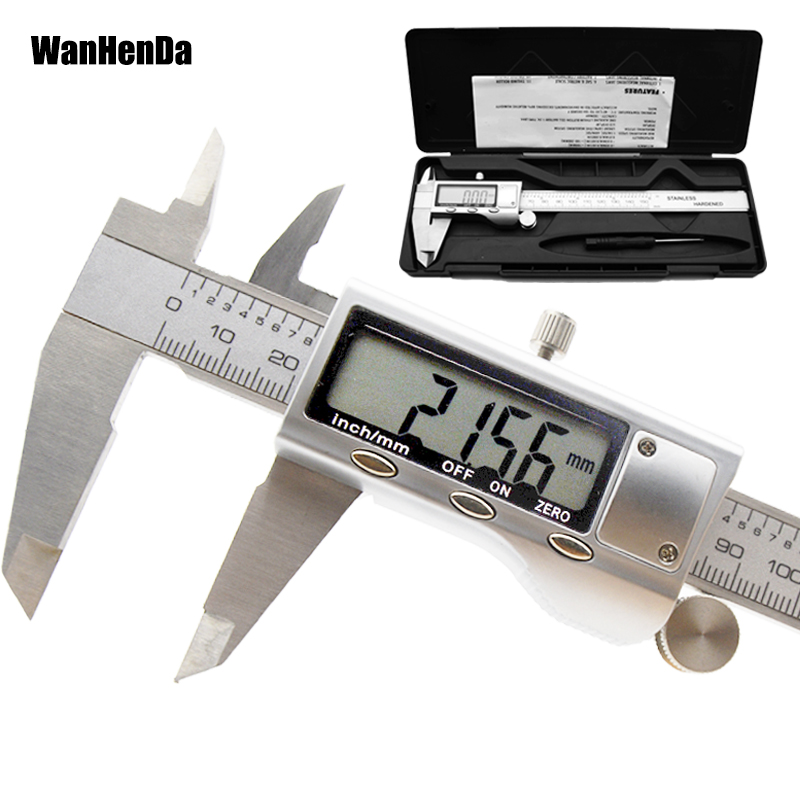 0-150mm Stainless Steel Digital Caliper Measuring Tools Electronic Digital Vernier Calipers Metal Measuring Instrument 6 Inch