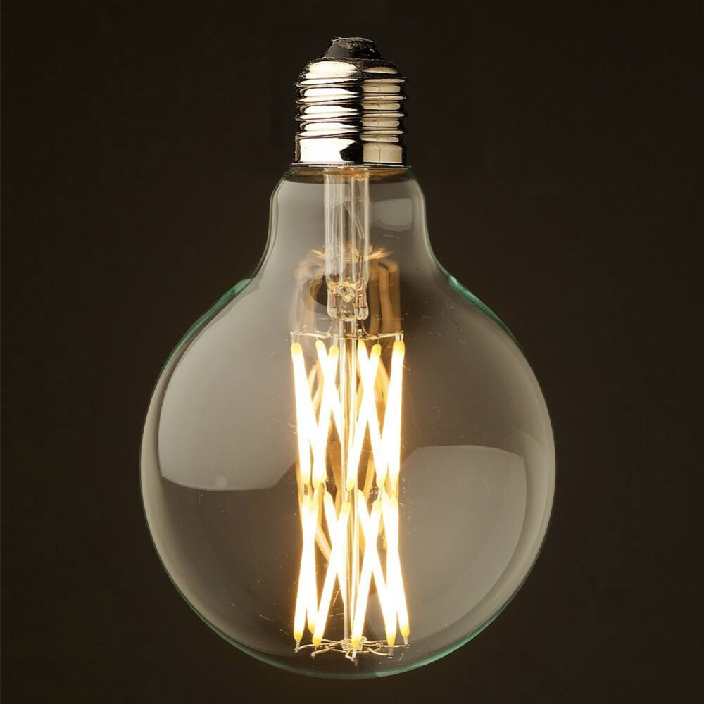 Dimmable,Edison G125 Bird's Nest Style,LED Filament Bulb,16W,Super Warm(2200K),Decorative Household Lighting 5pcs e27 led bulb 2w 4w 6w vintage cold white warm white edison lamp g45 led filament decorative bulb ac 220v 240v
