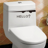 Carved wall stickers Beautiful Design Funny Toilet Bathroom Decal Seat Decor Removable DIY Wall Stickers Lowest Price