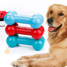 TPR Pet Dog Floating Sound Bones Chew Toy Dog Tooth Cleaning Grind Toys for large dogs(China)
