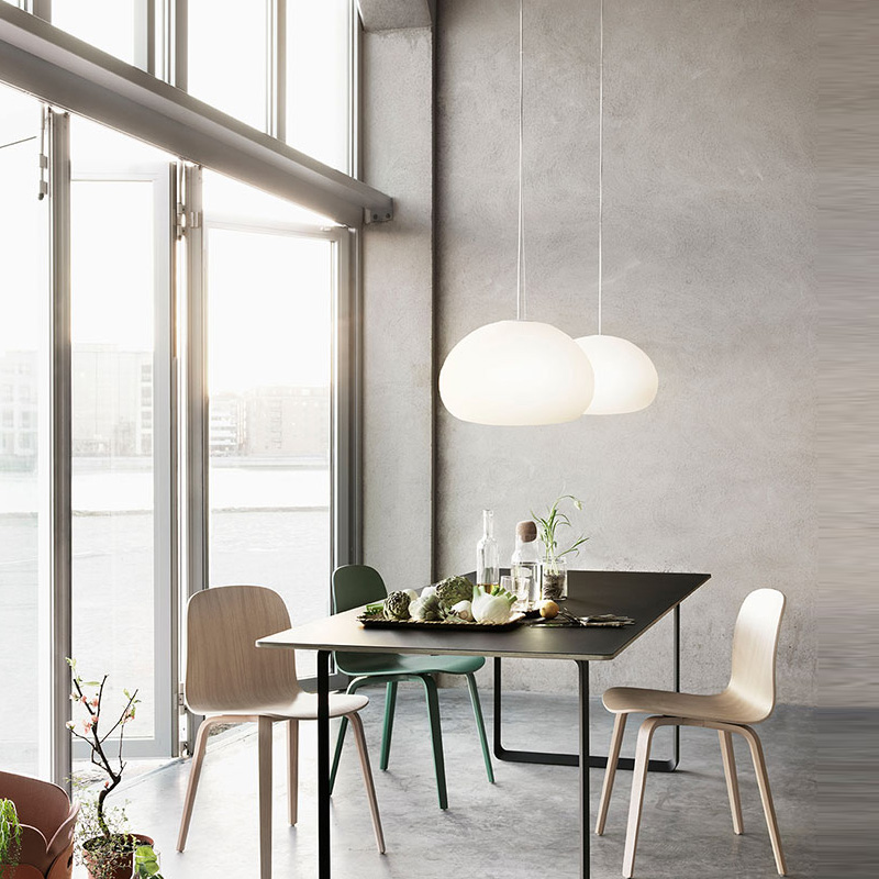 Light colored Creative Self glass pendant lamp Modern Living Room Restaurant Room Bedroom Study modern glass ceiling lamps shell restaurant bedroom sea rock shells pendant light lamps 50cm lamps and lanterns of creative study zcl