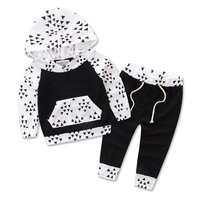 Newborn Infant Baby Girl Boy Clothing Outfits Fall Black Triangle Hoodies Pants Tracksuits For Toddler Winter