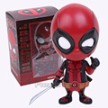 "HOT TOYS Deadpool PVC Figure Toys Collectible bobblehead Deadpool COSBABY Action Figures Toy Dolls Model 4"" 10cm"