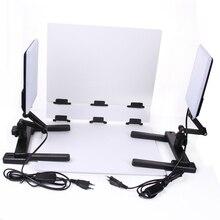 Nanguang фото светодиодный свет лампы cn-t96 2 комплекта 220 В Фотовспышки с мини Стрельба стол и Задний план Бумага комплект