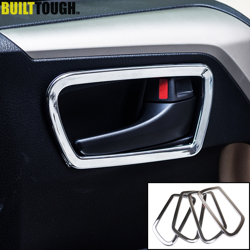 For Toyota Rav4 2013-2018 Chrome Door Handle Covers Catch Molding Trim 3M