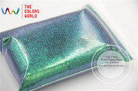 TCR402 Iridescent Malachite Green With Purple And Gold Luster Color 0 2MM Size Glitter For Nail