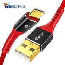 TIEGEM 3,1 Тип usb C нейлоновый кабель для быстрой зарядки Тип usb-C USB-C синхронизации данных Зарядное устройство кабель для Oneplus 2 Zuk Z2 NEXUS 5X6 P XiaoMi