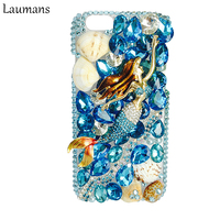 Rhinestone Mobile Phone Case For Iphone 6 6s Luxury Crystal Rhinestone Plastic Hard Prostective Phone Cover