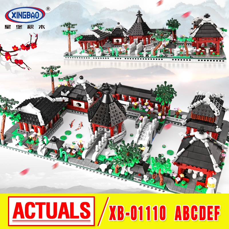 XingBao 01110 New Toys Building Series The 6 in 1 Chinese Suzhou Garden Model Set Building Blocks Bricks Toys For Kids Gifts time series model building on climate data in sylhet
