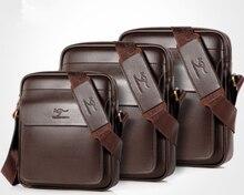 Men Casual Business Leather shoulder Messenger Bag Mens Crossbody male vintage crossbody ipad Laptop briefcase Messenger Bags