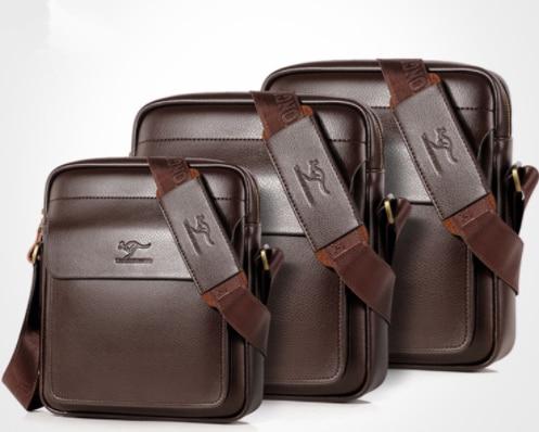 Men Casual Business Leather shoulder Messenger Bag Men's Crossbody male vintage crossbody ipad Laptop briefcase Messenger Bags