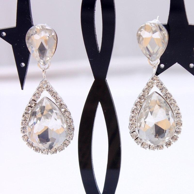 Bridal clip on earrings clip earrings water drop droplet wedding jewelry