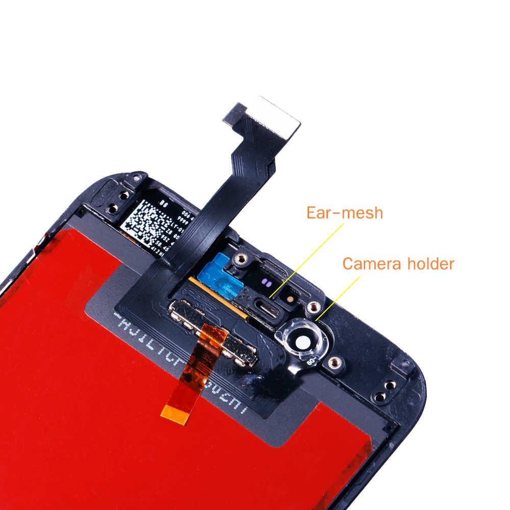 AAA + + جودة شاشة الكريستال السائل لقطع غيار للشاشة تعمل باللمس آيفون 6 آيفون 5 5c 5s SE 4s لا الميت بكسل + الزجاج المقسى + أدوات