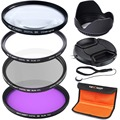 K&F Concept 52mm UV CPL FLD Close-up +4 Lens Accessory Filter Kit for Nikon D5300 D5200 D5100 D3300 D3200 D3100 DSLR Cameras