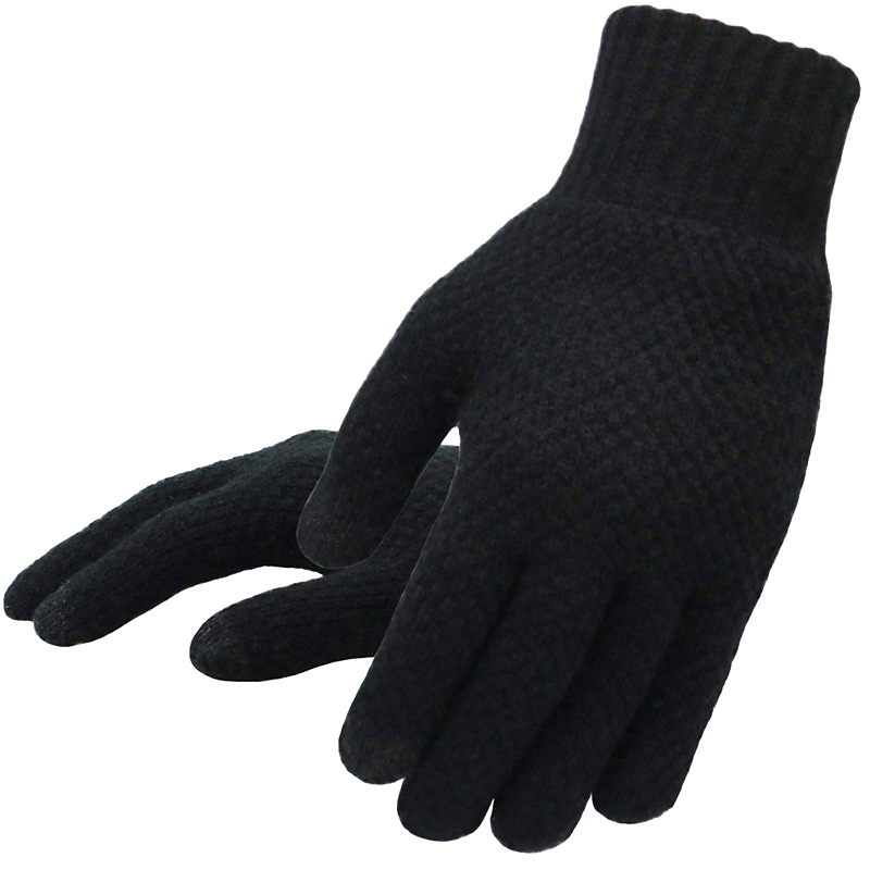 Warm and soft Knitted Touch Screen Gloves for Men Suitable during Winter and Autumn Made of Acrylic and Polyester Material 3