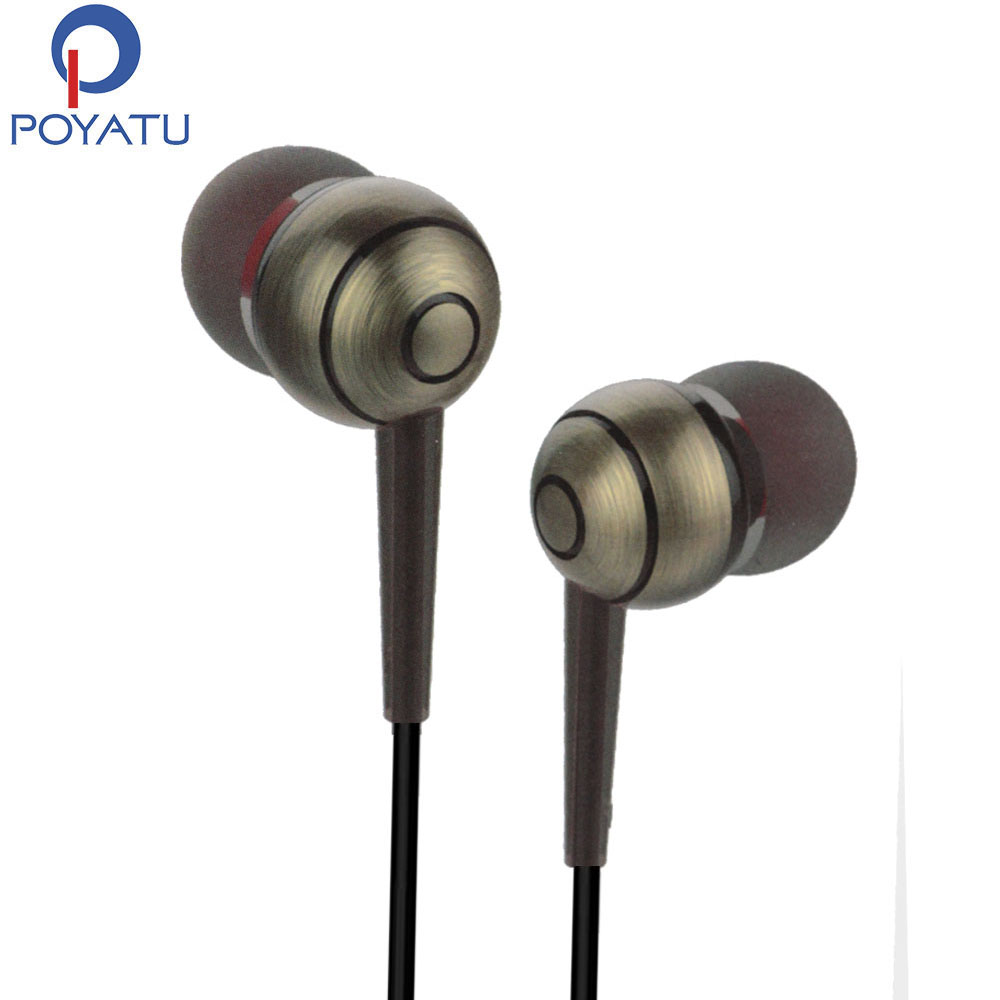 Musica poyatu en auriculares del oído con micrófono auriculares auriculares auri