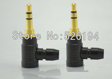 100pieces Oyaide style Gold plated Stereo 3.5mm 3 Pole Repair Headphone Jack Plug Cable Audio