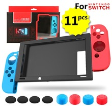 лучшая цена Yoteen for Nintend Switch Silicone Case Soft Protective Cover with Joy-Con Skin Thumb Stick Caps Full Cover Set Accessories Kit