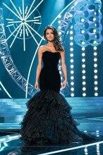 Heißer Verkauf Miss World Abendkleid Großen Design Maß Reizvolle Schatz-nixe Organza Night Party Kleid