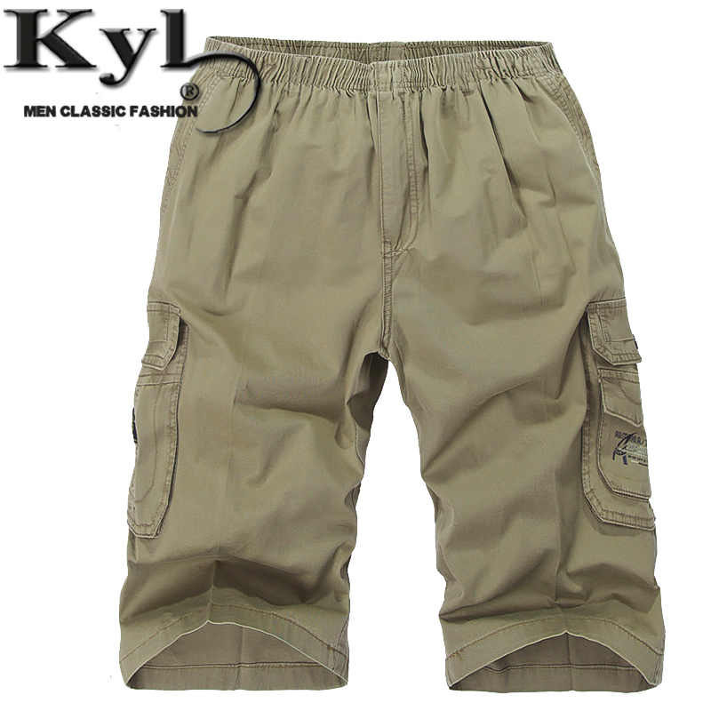 2016 New Loose Summer Men Casual Shorts Large Size mens shorts casual Straight Knee Cropped Trousers