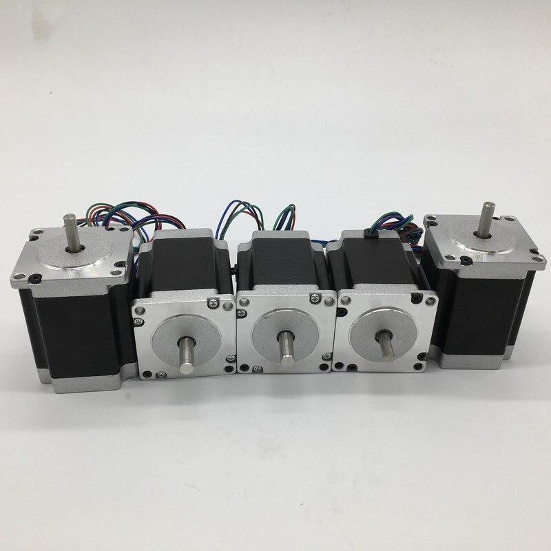 5PCS Stepper Motor Nema23 57*56mm 3A 1.2Nm 172Oz-in 8mm Shaft 2ph 4 Wires High Torque for CNC Router Lathe5PCS Stepper Motor Nema23 57*56mm 3A 1.2Nm 172Oz-in 8mm Shaft 2ph 4 Wires High Torque for CNC Router Lathe
