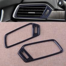 2Pcs Auto Car Carbon Fiber Style Plastic Air Vent Outlet Frame Cover Trim Sticker Accessory Fit For Honda Accord 2018 2019 цены