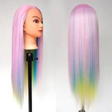 Dummy Mannequin Head Hair Colorful Hairdressing Training with