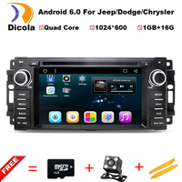 Android 6.0.1 car dvd player for Jeep grand wrangler 2015, patriot,compass,journey gps navigation,radio,rds,3g,wifi,bt,quad core