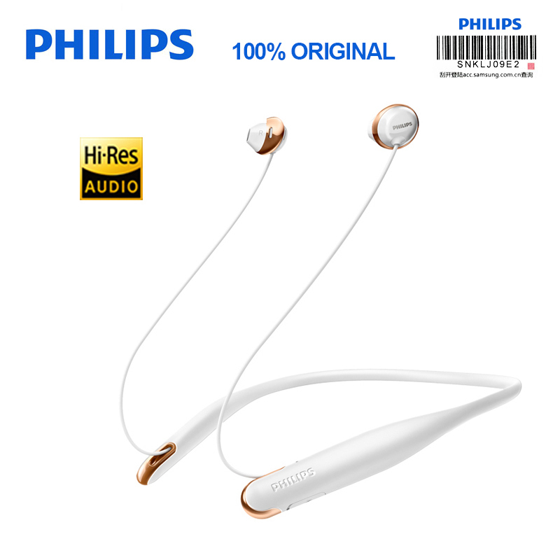 Philips Bluetooth Earphone SHB4205 Support A2DP AVRCP HFP Bluetooth 4 1 USB Cable for Galaxy S9