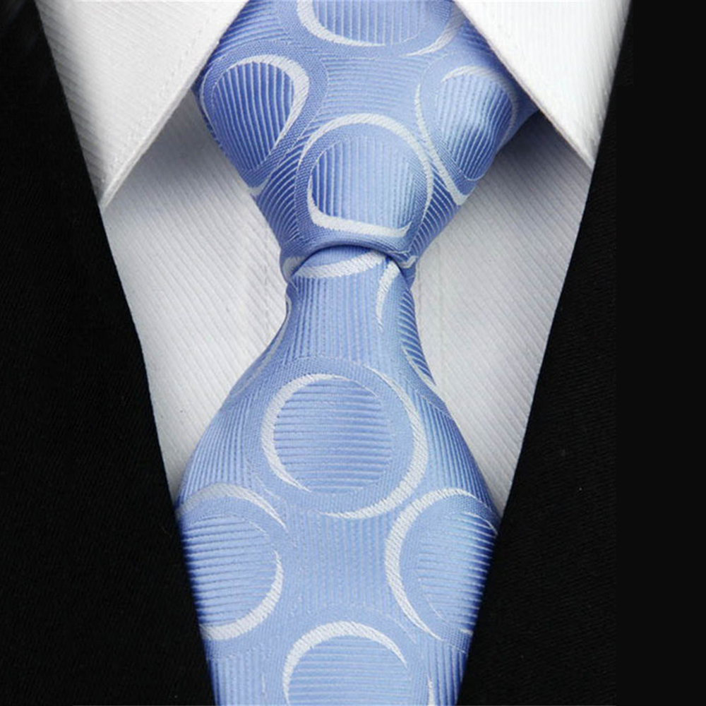 10cm Wide Mens Tie Gravatas Man Accessories Necktie For Men Striped Geometric Pattern Business Silk Wedding Suit Tie #29G