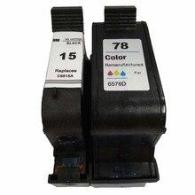 Vilaxh 2pcs For HP 15 78 compatible black Ink Cartridge for w C6615A 6578D Deskjet 1000 1100c 3810 3816 3820 3822 810