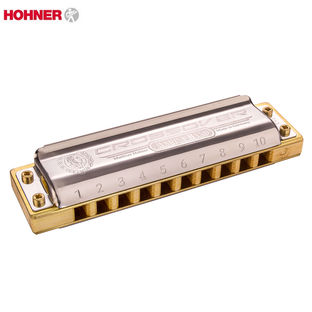 Hohner Marine Band Crossover Diatonic 10 Holes Harmonica  20 Tone Mouth Organ Instrumentos Key C Musical Instruments Bamboo Comb easttop brass chromatic harmonica 16 hole brass abs comb musical instruments mouth organ chromatic slide harmonica good sound