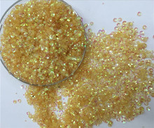 Free shipping 30g(2000pcs)wholesale 3mm DeepCupGolden platting Yellow color loose sequins Paillettes sewing Wedding craft DIY