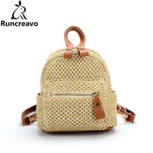 Summer backpack Bags For Women 2018 Luxury Women Bags Designer Famous Brand Ladies Rattan Beach Bag Wicker Straw Bag