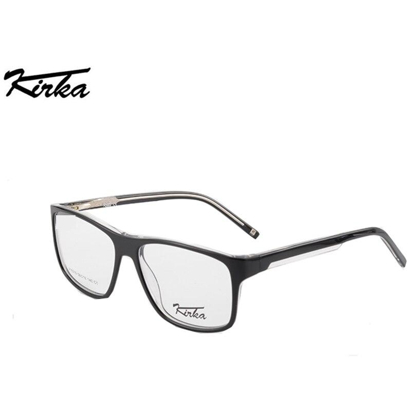 34a7c65c6030 Kirka Acetate Solid Square Frame Black Unisex Glasses Frame Elegent Stylish  Brand Desiner Frame Reading Glasses