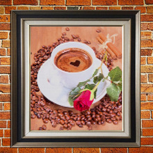 Coffee Cup Rose Pattern Diamond Embroidery 5D DIY  Painting Cross Stitch Full Square Rhinestone Decor Needlework