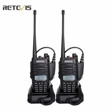 2 unids walkie talkie retevis rt6 ip67 a prueba de agua anti-polvo de doble banda 5/3/1 w vhf uhf 136-174/400-520 mhz fm radio comunicador a9114