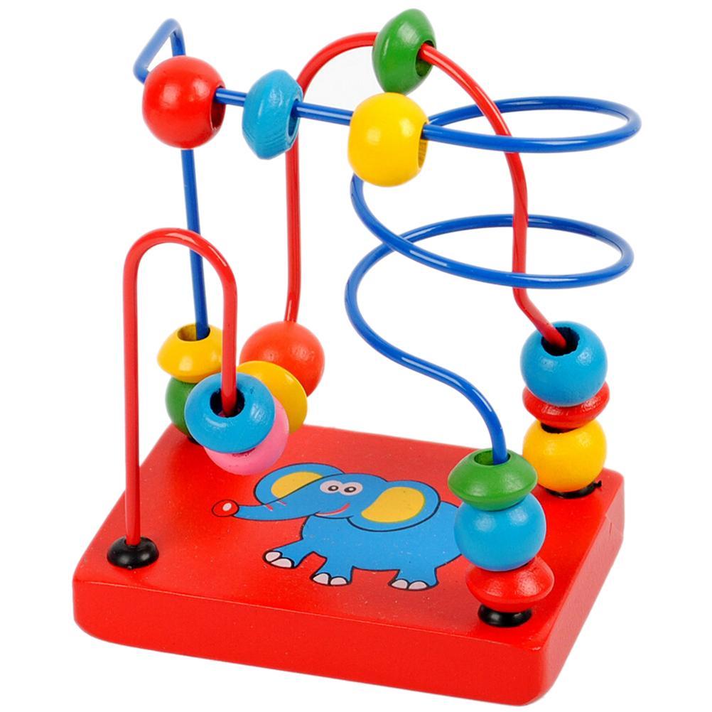 Kids Educational Montessori Wooden Elephant Wire Maze
