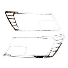 Coche cubierta de la lámpara frontal Head Light ajuste de la cubierta para Dodge Journey Fiat Freemont 2010 2011 2012 2013 2014 Abs Chrome 2 unids por juego