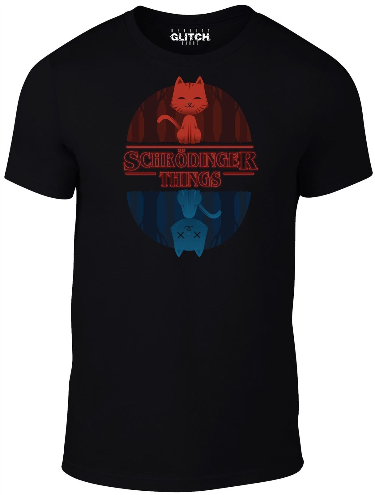 Glitch Men 39 s Schrodinger Things T ShirtNew T Shirts Funny Tops Tee New Unisex Funny High Quality Casual Printing in T Shirts from Men 39 s Clothing