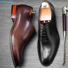 2019 Hot Handmade Designer Fashion Formal Shoes Men Party Wedding Brand Men's Dress Shoes Genuine Leather Oxford Shoes