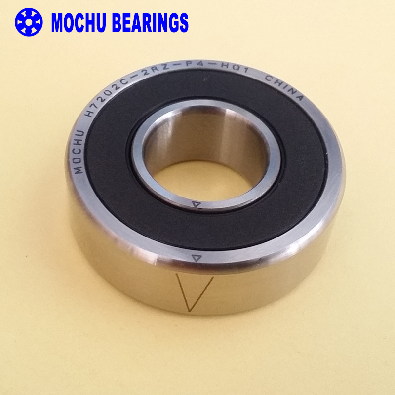 1PCS 7202 H7202C 2RZ P4 HQ1 15x35x11 Sealed Angular Contact Bearings Speed Spindle Bearings CNC ABEC-7 SI3N4 Ceramic Ball 1pcs 71822 71822cd p4 7822 110x140x16 mochu thin walled miniature angular contact bearings speed spindle bearings cnc abec 7
