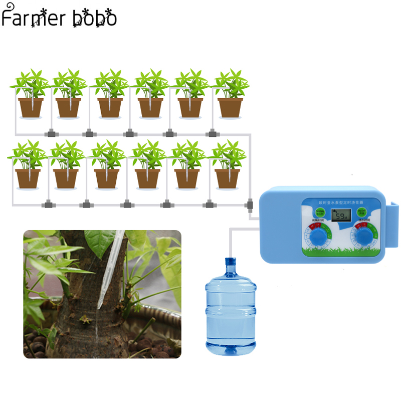 LED Bequem Micro Automatische Bewässerung Set Blumen Pflanze Bewässerung Timer Elektronische Controller Garten Wasser Timer Home Office