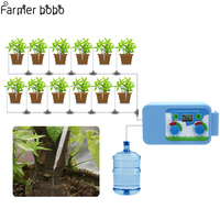 LED Convenient Micro Automatic Irrigation Set Flowers Plant Watering Timer Electronic Controller Garden Water Timer Home Office