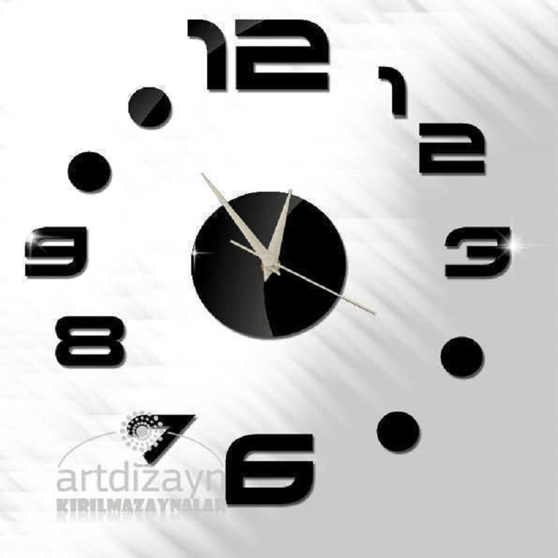 US $16.8 | DIY Wall Clock Saat Clock Reloj Duvar Saati Horloge Murale  Digital Wall Clocks Reloj de pared Klok Home decor Mirror adhesive -in Wall  ...