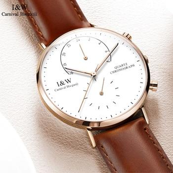 CARNIVAL Brand Fashion Simple Men Watch Top Brand Luxury Blue Point Casual Quartz Wristwatch Waterproof Luminous Zegarki Meskie