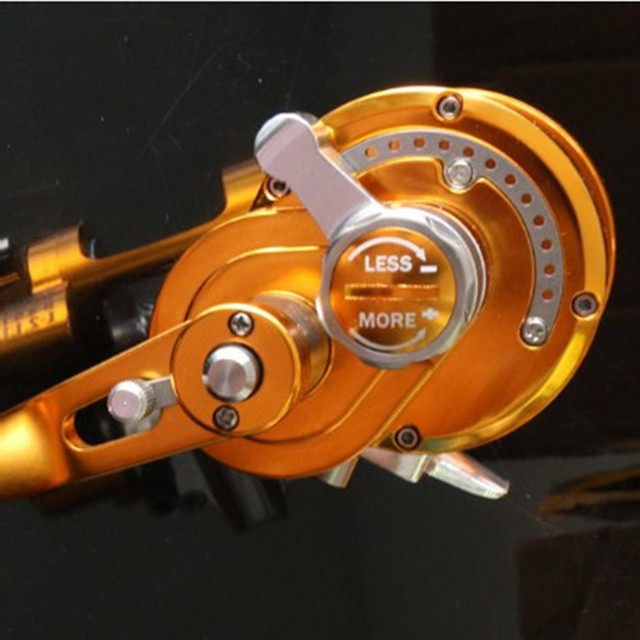 Saltwater Trolling wheel Aluminum CNC Machined Series Fishing Reel Left-Hand 7BB+1RB fishing force 30kg 2